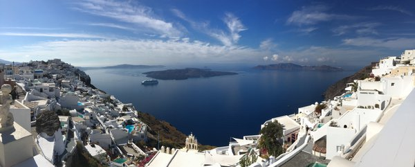 Santorini Seascape and Caldera thumbnail