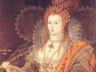 """The """"Rainbow Portrait"""" of Queen Elizabeth I, painted in the early 17th century."""