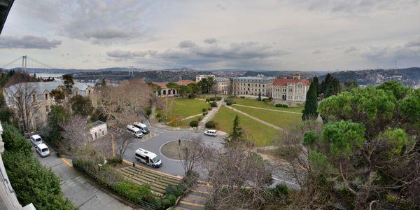 Boğaziçi university at Bosporus near the bridge thumbnail