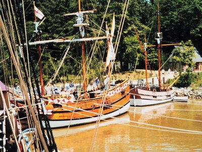 Reproduction of early English vessels at Jamestown, Virginia.