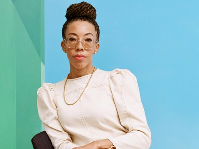 Artist Amy Sherald, photographed at the Hauser & Wirth gallery in New York City.