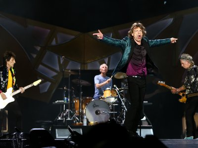 Ronnie Wood (far left) has taken on the role in Rolling Stones originally filled by Brian Jones.