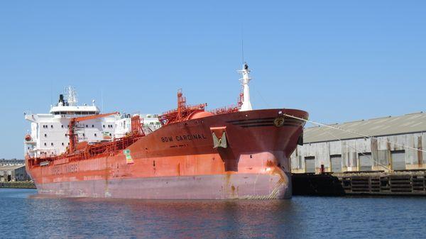 Tanker docked at the port thumbnail