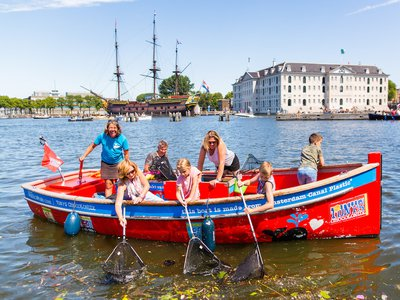 Plastic Whale organizes boat tours along Amsterdam's canals to collect garbage--in particular plastic--which it then recycles and uses the repurposed material to build boats.