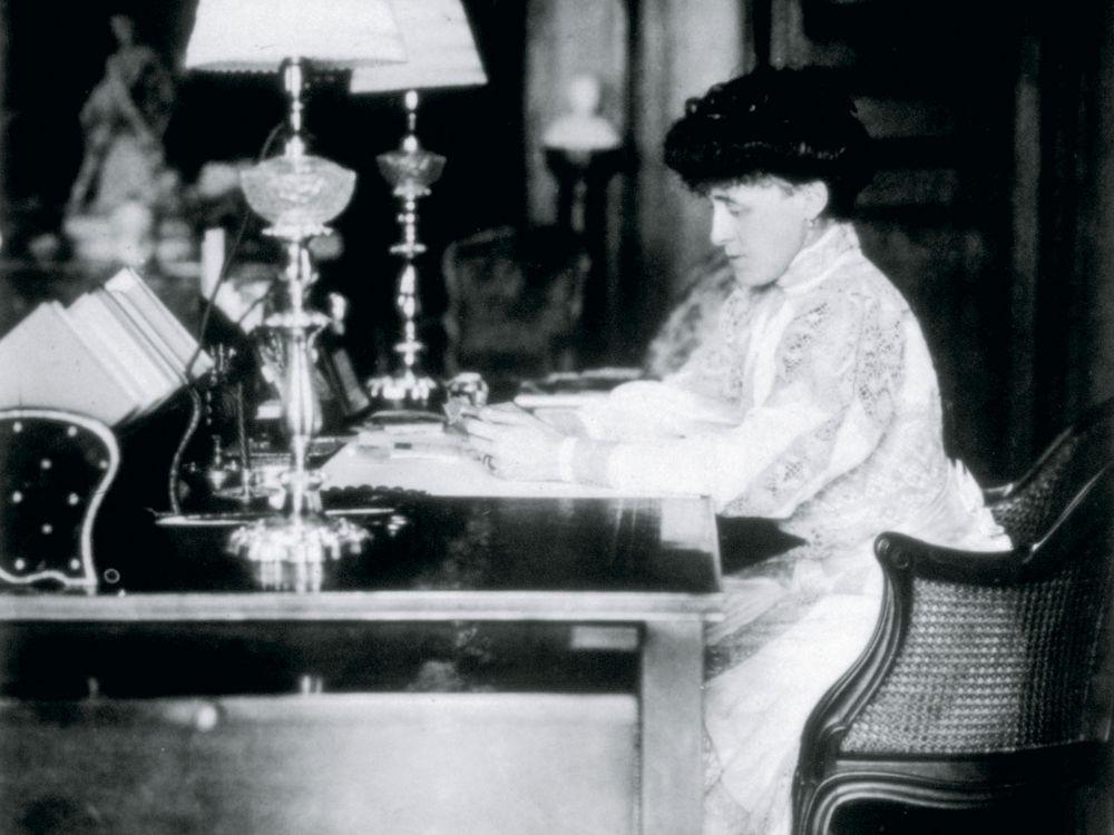 Wharton at Desk