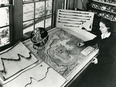 """Marie Tharp's map helped vindicate plate tectonics, but her work was initially dismissed as """"girl talk."""""""