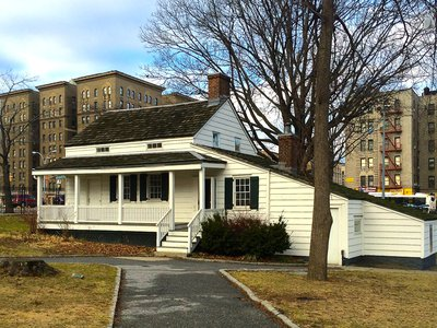 The cottage rented by Edgar Allan Poe from 1846 until his death in 1849, located in Poe Park in the Bronx.