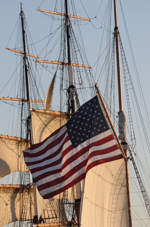 Sails Unfurled and Old Glory thumbnail