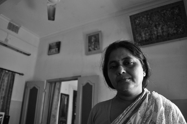 An Indian housewife in her house. thumbnail