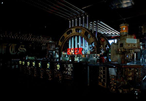 Big Beer Bar in wild west saloon. thumbnail
