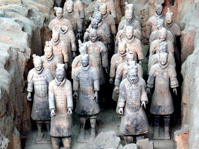 The famous terracotta army guards the tomb of Chinese emperor Qin Shi Huang. Dozens of other graves and ruins around China are not so well secured.