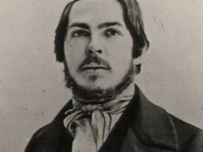 Portrait of a young revolutionary: Friedrich Engels at age 21, in 1842, the year he moved to Manchester–and the year before he met Mary Burns.