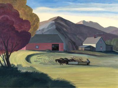 Dale William Nichols. American, 1904-1995. McCormick Reaper, circa 1945. Oil on canvas.