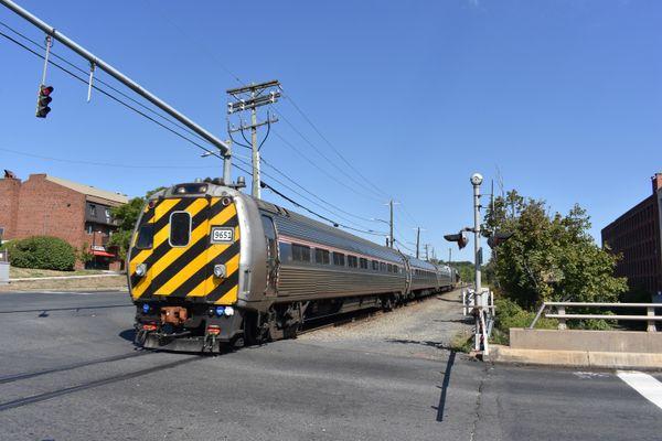 An Amtrak Train passing through Windsor Locks, CT thumbnail