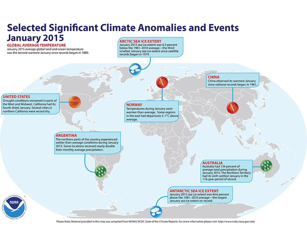While the U.S. East Shivers, Unusual Heat Stirs Trouble Across the Globe