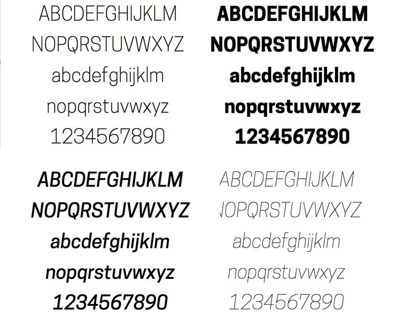A sampling from the free Cooper Hewitt Typeface