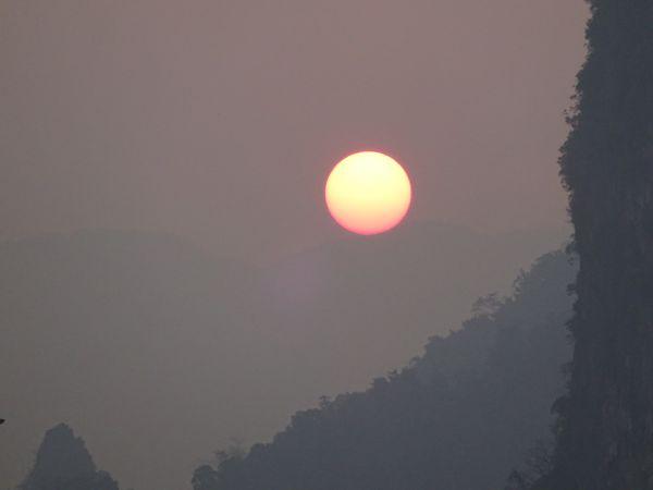 Laotian Mountains and Sunset thumbnail