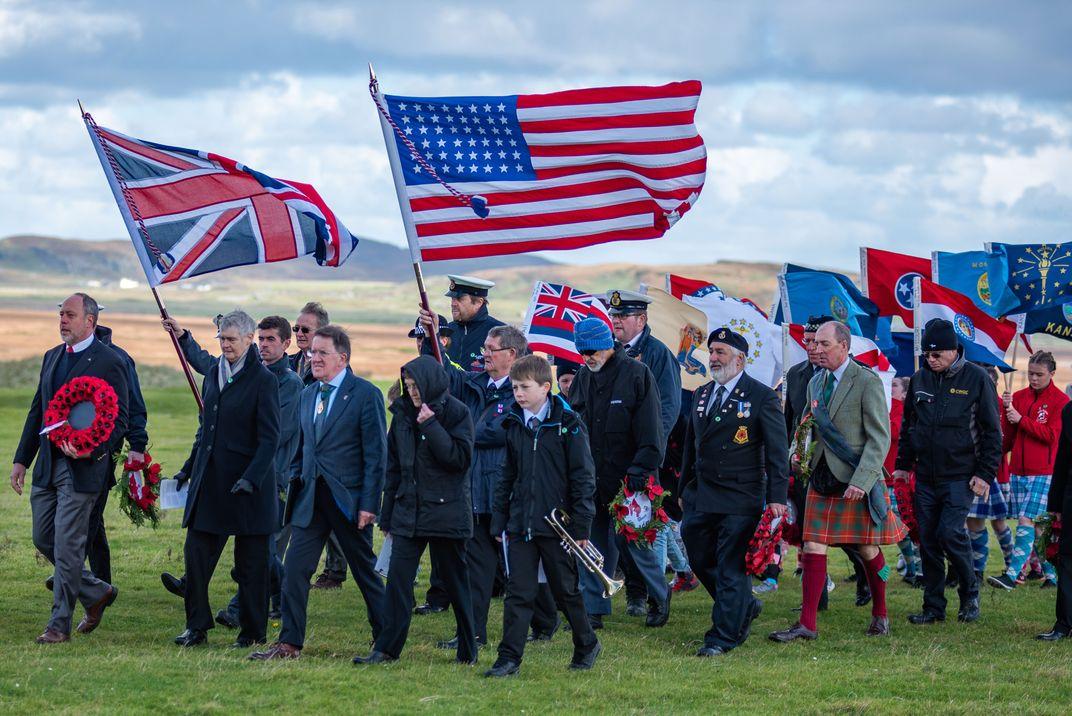 World War I Handmade American Flag to Stay in Scotland