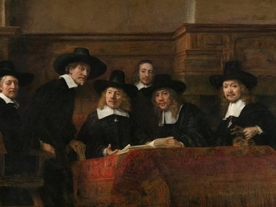Rembrandt van Rijn, The Wardens of the Amsterdam Drapers' Guild, Known as 'The Syndics', 1662. On loan from the City of Amsterdam