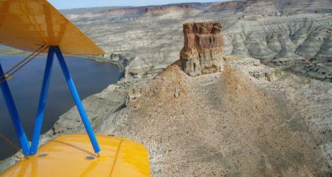 En route to Rock Springs, Wyoming, Matt Quy flew by Pinnacle Rock