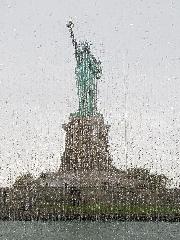 Statue of Liberty in the rain thumbnail