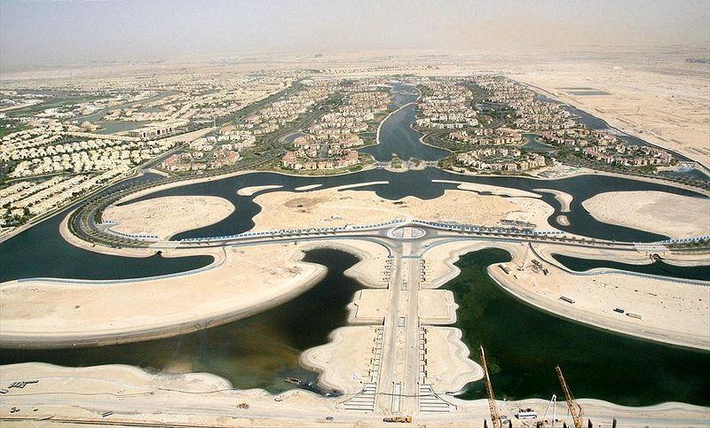 Dubai's man-made Jumeirah Islands.