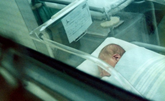 The baby who was cured of HIV hasn't been identified, but here's another random picture of a baby in a hospital.