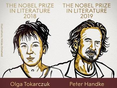 Olga Tokarczuk won the 2018 Nobel Prize in Literature, while Peter Handke was awarded this year's prize