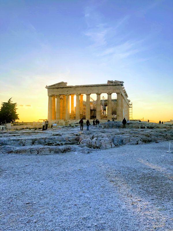 Parthenon during Sunset thumbnail