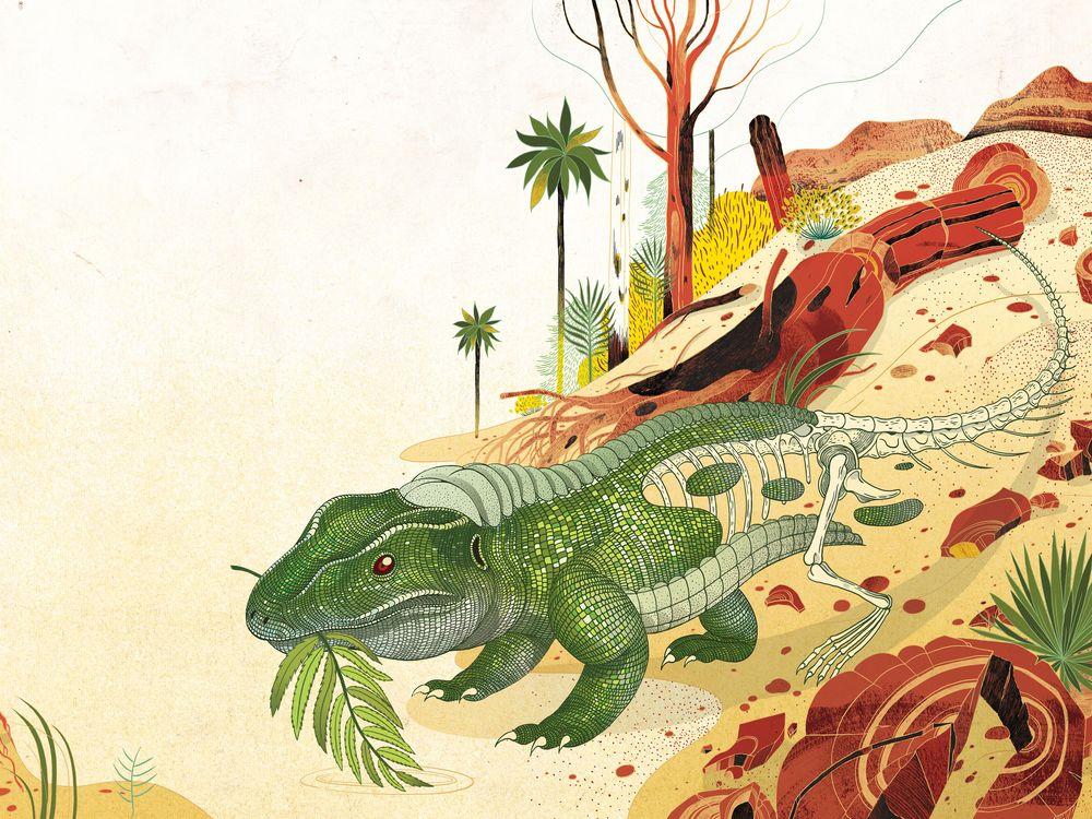 Dawn of the Dinosaur illustration