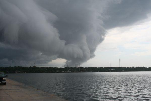 Thunderhead across the water thumbnail