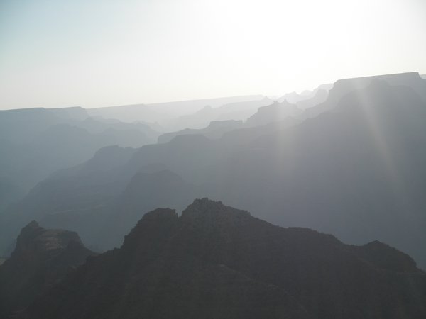 A Hazy Afternoon At The Grand Canyon thumbnail
