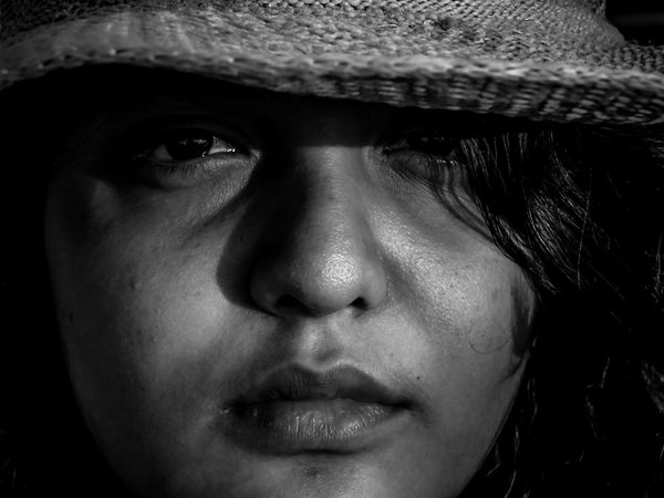 The girl with a hat. thumbnail