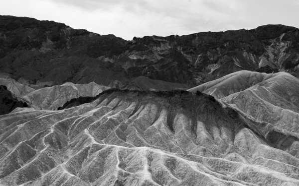 A dramatic land formation at Zabriskie Point, Death Valley. thumbnail
