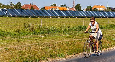 Renting a bike is a great way to explore Aero Island.  Along the way you will see many U-shaped farms, typical of Denmark.