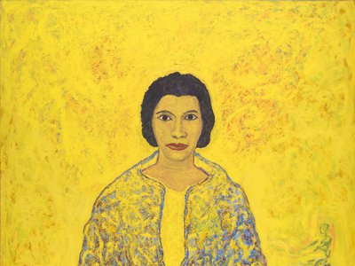 The exceedingly private and humble Marian Anderson (Above: by Beauford Delaney, 1965, detail) would become a worldwide phenom.