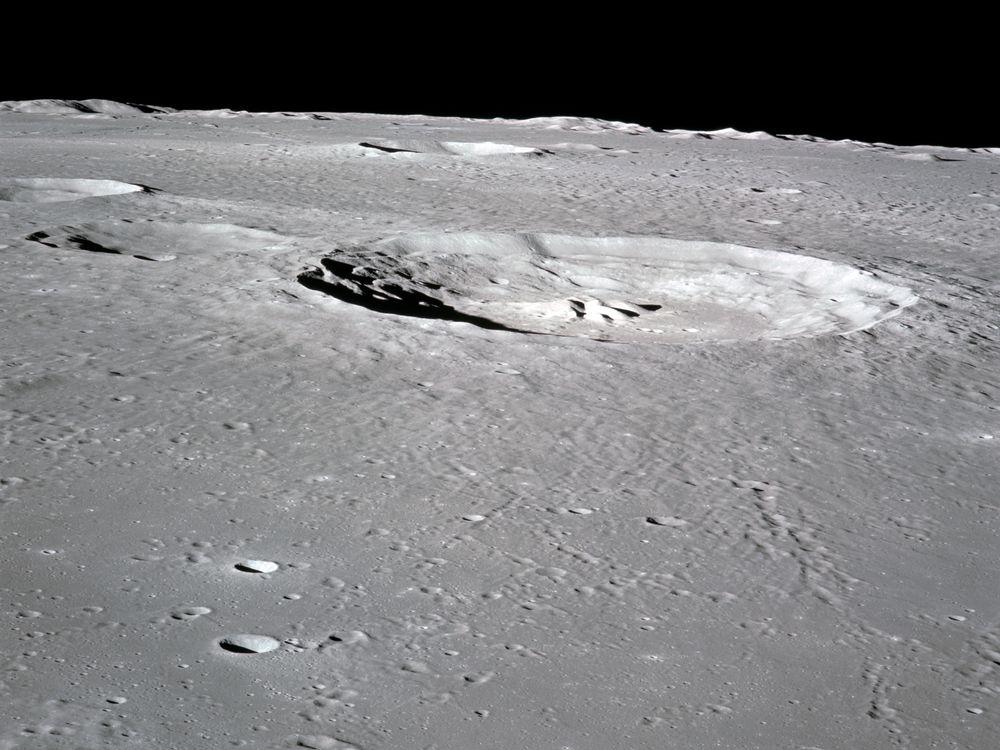 The Bullialdhus Crater. It looks little, but it ain't.