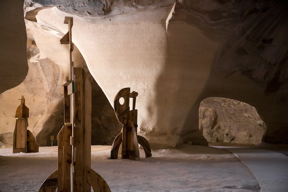 Ancient Israeli Cave Transformed Into Art Gallery