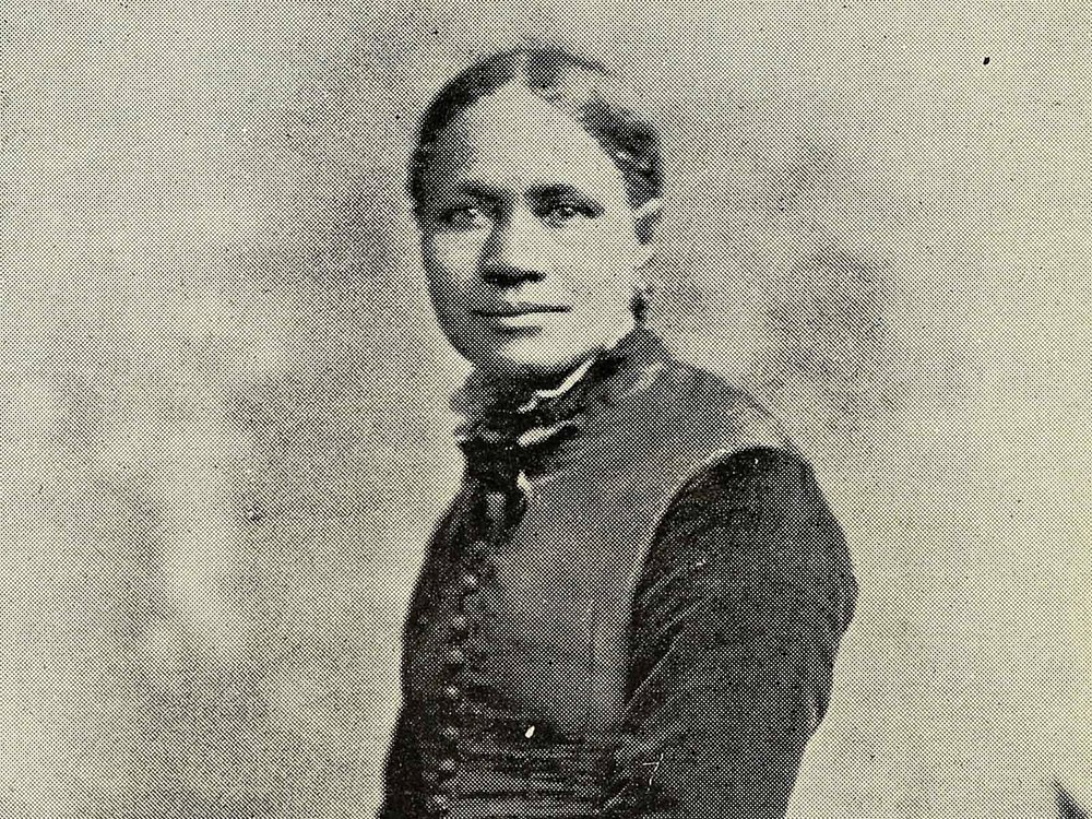 Portrait of Frances E.W. Harper (detail), Frontispiece, Poems, 1900. (Smithsonian Libraries and Archives)