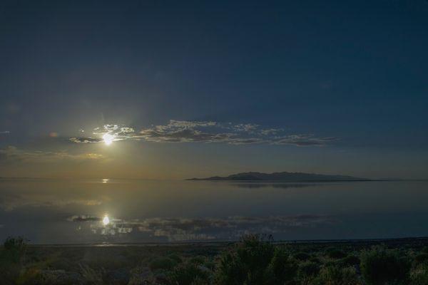 Approaching Sunset–Great Salt Lake, Utah thumbnail