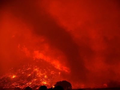 Fire tornadoes, or fire devils, often arise during wildfires.