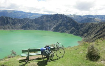 Lake Quilotoa is gaining a reputation as one of the most attractive destinations in Ecuador. The surrounding area, of rugged mountains and dirt roads, offers some of the most rewarding cycle touring in the Andes.