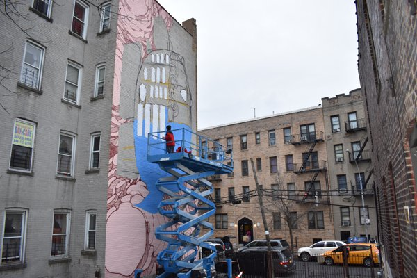 Nubian Painting a Mural in the Bronx thumbnail