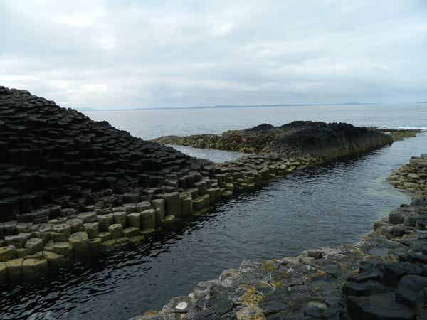 The columnar basalt formations at Staffa Island thumbnail