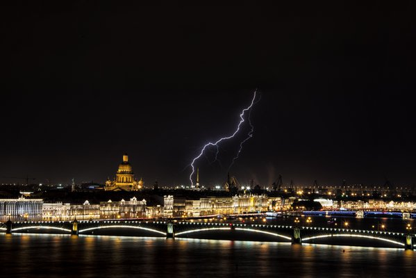 St Petersburg Scenery along River Neva thumbnail