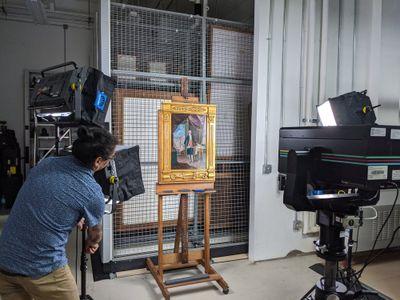 Google's Art Camera scanned dozens of works of art in high resolution.