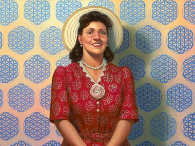 Henrietta Lacks (HeLa): The Mother of Modern Medicine by Kadir Nelson (detail, above) is on view at the National Portrait Gallery through November 4, 2018.