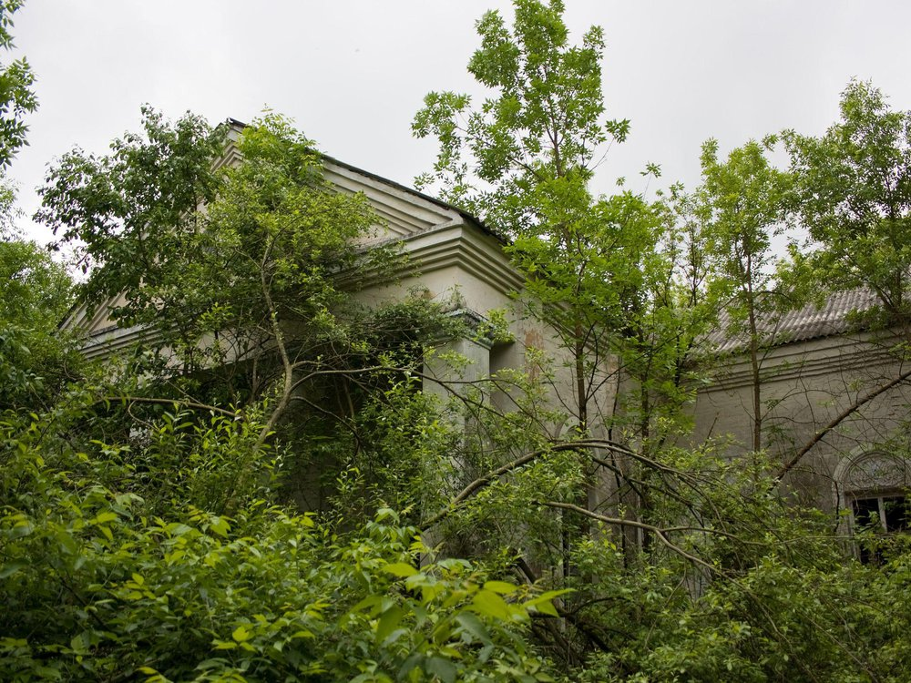 An abandoned building near the Chernobyl Nuclear Power Plant