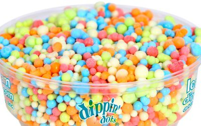 """""""Rainbow Ice"""" is a top selling flavor for Dippin' Dots."""