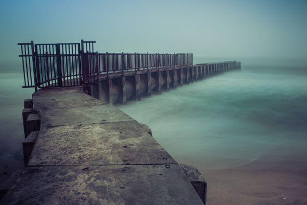 Foggy Night At Toes Beach thumbnail